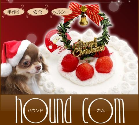 ペット用たっぷりイチゴのクリスマスケーキ
